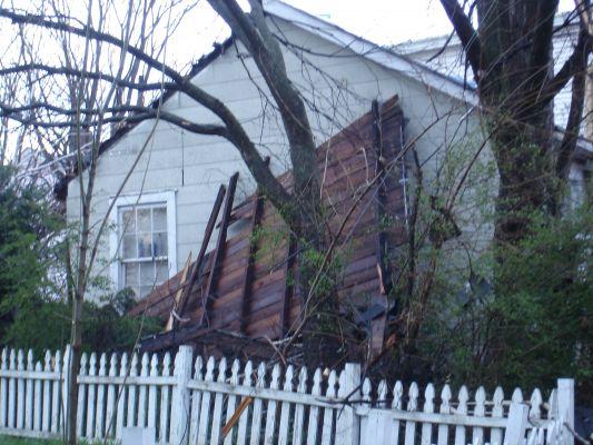 Tornado Damage Displacing Roofs In Atlanta