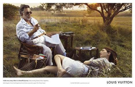 Francis Ford Coppola and daughter Sofia star in 2008 Louis Vuitton Print Campaign