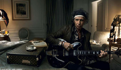 Keith Richards stars in 2008 Louis Vuitton Print Ad
