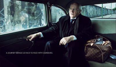 Gorbachev stars in 2008 Louis Vuitton Print Ad