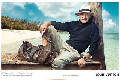 Sean Connery Stars in new 2008 Louis Vuitton Print Ad